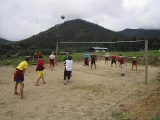 Monk volleyball star!