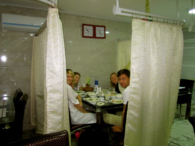 Shower curtain dinner, Oman