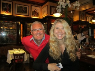 Peter and Marijana at the pub