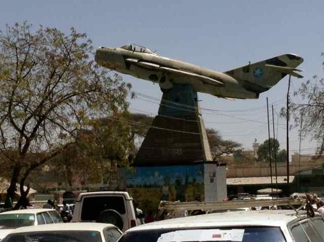 MiG jet memorial in Somaliland
