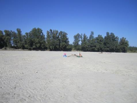 Secret riverside beach