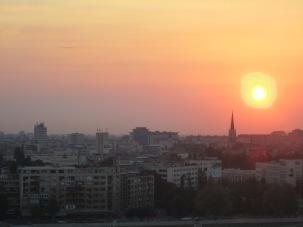 Sunset over Novi Sad