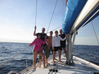 The crew - Michaela, Adrian, Paul, me, Maurice