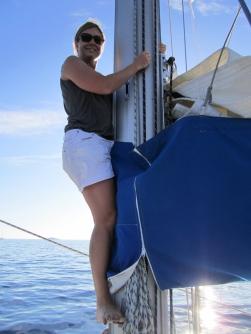 Dropping the sail