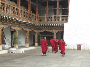 Inside the Dzong