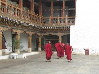 Inside the Dzong