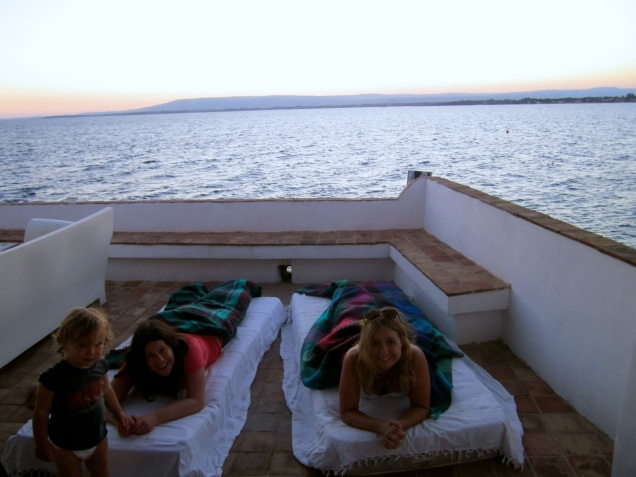 Glamping on the roof deck