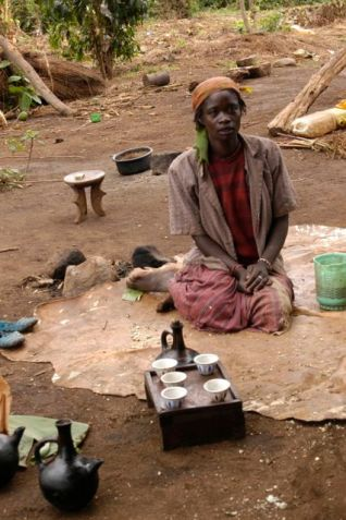 Village life - special coffee ceremony here as well