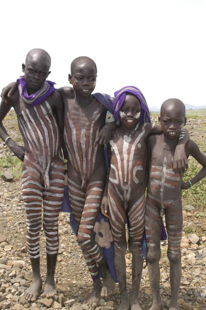 The Karo tribe are well-known for their body painting