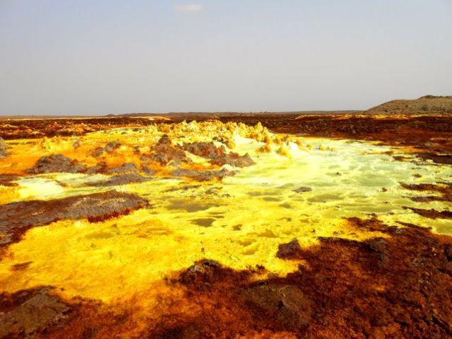 Sulphur fields
