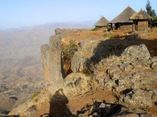 Camp in the Lalibela highlands