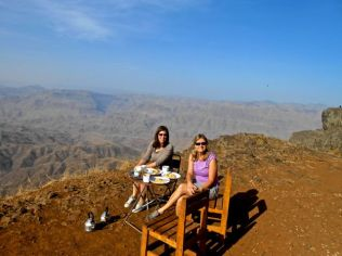 Breakfast in the Lalibela highlands