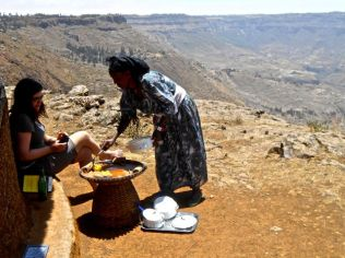 Lunch in the Lalibela highlands