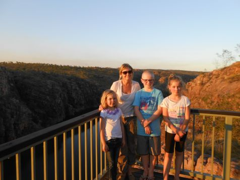Jake, Emma and Zoe at Katherine Gorge