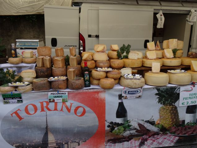 Cheese at Italian markets