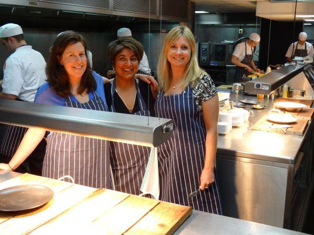 The girls at MAZE Chef's Kitchen