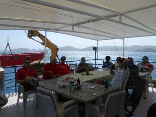 Birthday boat cruise fun