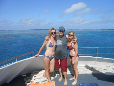 With my Barrier Reef dive buddies Irina and Adam