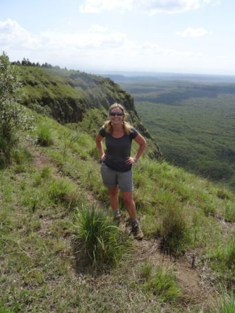 Mengai Crater..we had just hiked up the extremely steep slope behind me