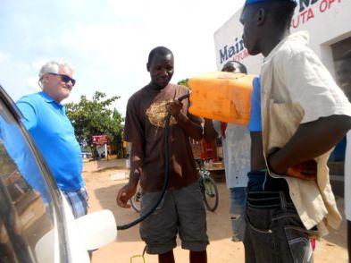 Getting fuel - Malawi Style