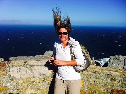 Hair situation - crazy wind at Cape Point!