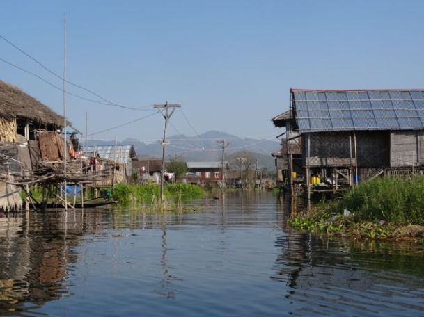 Typical village at Lake Inle