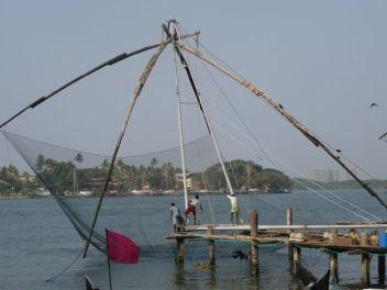 Unique fishing nets in Cochin