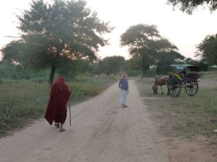 Monks and horsecarts