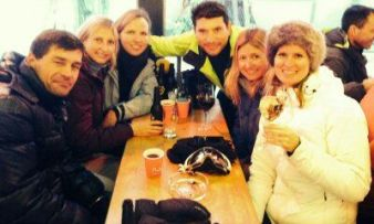 Civilized apres-ski in Austria...