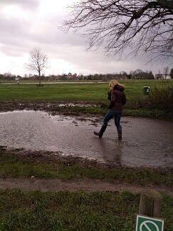 Muddy Wimbledon Common