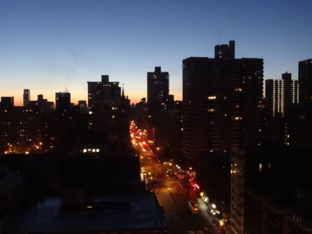 Dawn in New York City