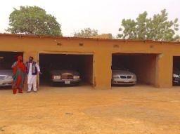 Rows of luxury cars inside