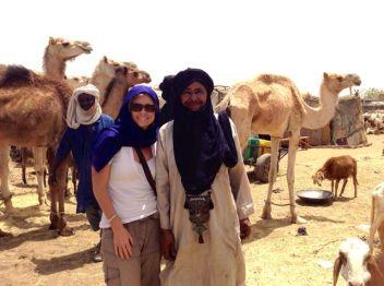 Agedez animal market (note the traditional Tuareg bag/necklace)