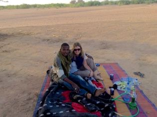 Picnic in the desert with Ibrahim