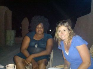 Hanging with Shakina (the prostitute)