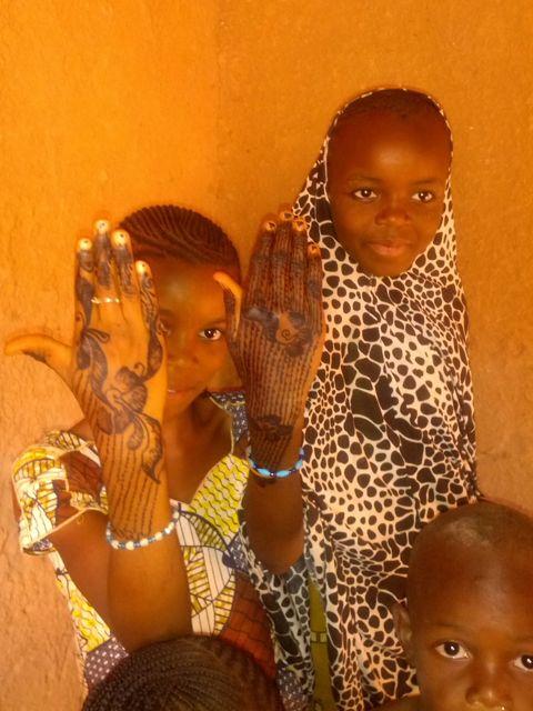 Beautifully hennaed hands
