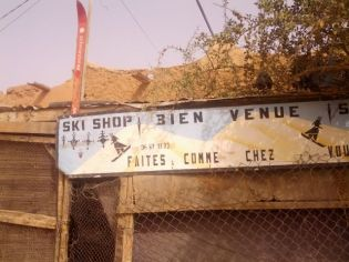 Ski shop on the edge of the desert!