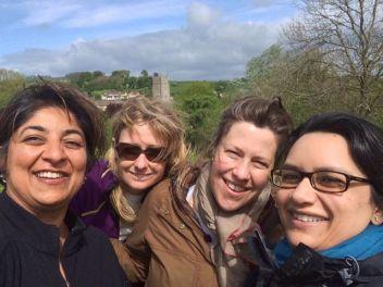 Girls on a walk - in Somerset