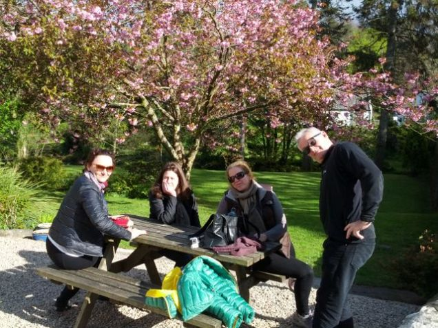 Isle of Arran, Scotland...Bernice, Anna, Lisa and Rob