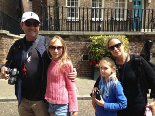 Steph and family in London