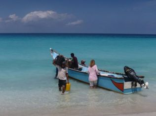 Arriving at Shouab Beach