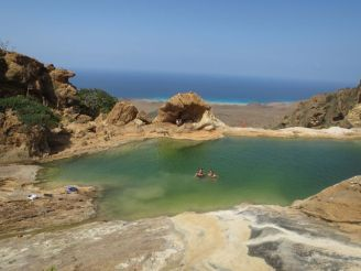 Gorgeous mountain rock pool